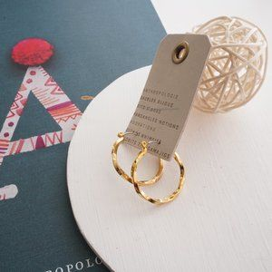 Anthropologie Small Twisted Hoop Earrings